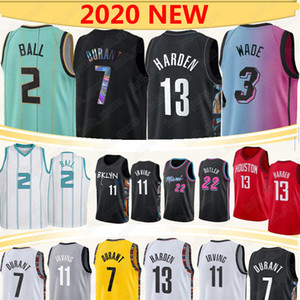 7 durant 13 endurecer jerseys de basquete 2 bola 11 Irving 3 Wade 2020 NCAA 0 Westbrook 22 Butler 14 Herro Basketball Jersey
