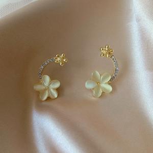 Boucles d'oreilles de la mode Alliage de fleurs Strass Studs Studies Artificielles Cat Eye Pierre Femmes Stud Exquise Bijoux 2 5ly L2