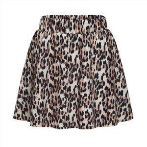 Gonna Donne Brown Fashion Party 2020Skirt Summer Cocktail del leopardo delle donne stampato Gonne a vita alta Gonna longuette Saia Jupe Femme Bb4