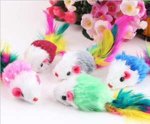 New 5pcs lot Funny False Mouse Rat Toys For Cat Kitten Colorful Plush Mini Mouse Toys Pets jllunY sinabag