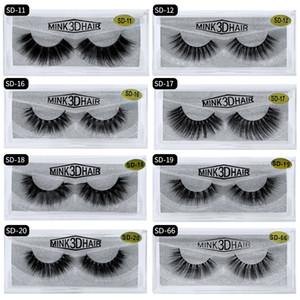 20 Style 8 D 15 MM mink eyelashes magnetic eyelashes Soft Natural Thick mink lashes custom packaging Strip False Eyelash Free custom logo