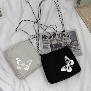 Reflective butterfly men and women design outdoor portable small square bag messenger bag