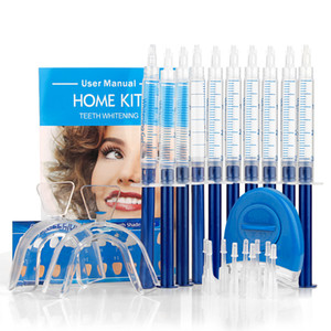 Teeth Whitening Oral Hygiene Gel Polish Pen Kits Peroxide Professional Bleaching Dental Care Tools Tooth Whitener with LED Light