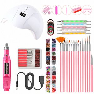 Art Nail Polishing Machine Set Nail Set UV LED Lamp Dryer 36W USB UV Lamp Sticker Electric Drill Drill Tools PQL4#