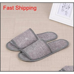Cotton Linen Disposable Slippers Anti-slip Travel Hotel Spa Home Guest Shoes Colorful One-time Sandals Breatha qyljPV bde_luck