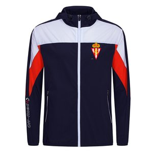 Спортинг Хихон, S.A.D Новый Фитнес Спорт Футбол Jumper Теплый куртка с капюшоном Мужская куртка Одежда длинным рукавом для Unisex