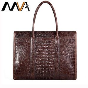 MVA genuine men's leather briefcase for male document bags for man's handsbag laptop bag men's large briefcase 7432