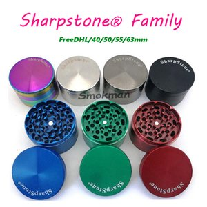 100% originale Sharpstone di alta qualità Family Herb Herb TABACCO Big Metal Smerigliatrici 40 / 50/55 / ​​63mm in lega di zinco in lega di zinco 3Types 4layers OEM logo