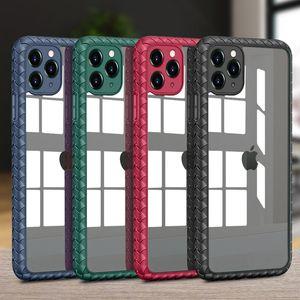 Акриловые Назад Чехол для телефона для iPhone 12 11 Pro MAX XS XR 7 8 плюс SE 2 ударопрочных ясно задняя крышка ячейки оболочки
