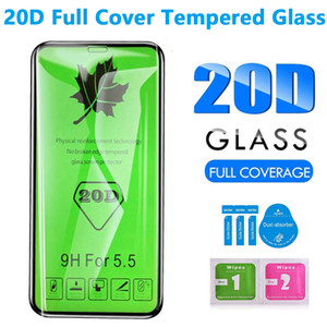 20D cubierta completa pantalla de cristal templado protector para Huawei Nova 5T para el iphone 11 x 12 Xr Xs Max 6 7 8