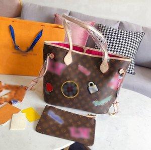 고급 가죽 클래식 어깨 가방 핸드백 토트 백 지갑 어깨 가방 고품질 가죽 여성 핸드백 크로스 바디 백 -L2841