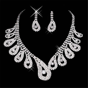 15042 In stock Bridal Sets Jewelry Rhinestone on wedding Party Prom Cocktail Girl New Without Tags Silver