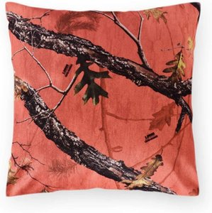Camouflage Linen Throw Pillow Cases Decorative 18x18 Cushion Pillow Covers Army Hunting Forest Square Pillowcase