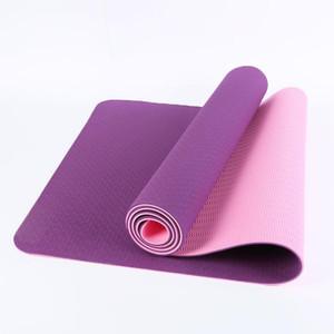 Коврики йоги Двуцветный коврик 183 * 61 * 0.6см фитнес сделан для предотвращения толщины скольжения