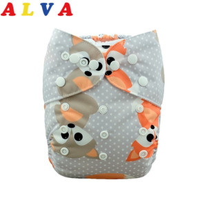 (50pcs per Lot) Alvababy Reusable Baby Cloth Diaper Washable Cloth Nappy with 50pcs Microfiber Inserts Free Shipping 201020