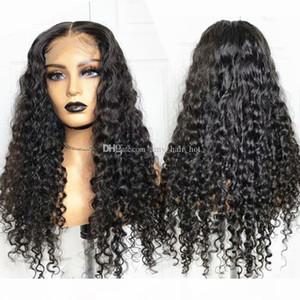 Curly 5x5 Seide Top Spitze Verschluss Menschliche Haarperücken für Schwarze Frauen Brasilianische 13x6 Spitze Perücken 150 180 Dichte Remy Hair Perücke