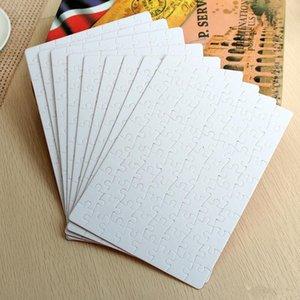 التسامي لغز a4 حجم diy التسامي الألغاز فارغة لغز الأبيض بانوراما 80 قطع الحرارة نقل الطباعة اليدوية هدية FY7451