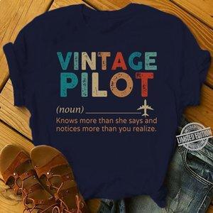 Vintage Pilot знает больше, чем она говорит и Извещения больше, чем вы предполагаете рубашку балахон дизайнеров футболки толстовка