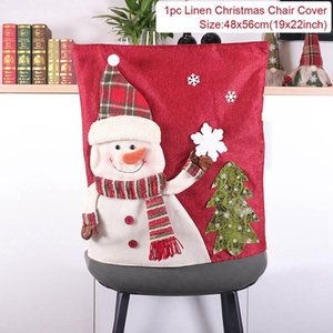 Reindeer Christmas Chair Cover Merry Christmas Decor For Home Noel Santa Claus Christmas Ornaments Navidad 2020 New Year 2021 sqcnes