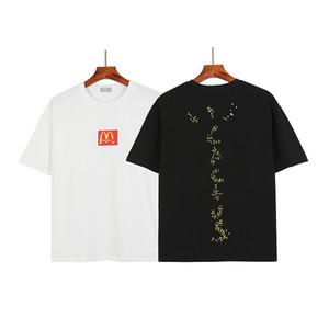 2021 Frühling Sommer Fast Food Cactus Snackbar Collaborate Sesam T-Shirt Skateboard Mens T-Shirt Frauen Straße Casual Tshirt