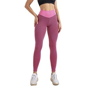 Women Yoga Pants European and American Womens High Waist Beautiful Hip Sports Leggings Female Skinny Hip Fitness Seamless Trousers Size S-L