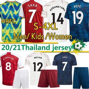 4xL Fans Versione giocatore Arsen 4th Soccer Jersey Gunners 20 21 Pepe Saka Thomas Nicolas Tierney Camicie da calcio Uomo Womdn Kit Kit Kit Humanrace