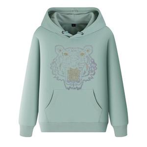 Männer Frühling mit Kapuze Medusa Tiger Head Sweatshirts Frauen Harajuku Daisy Print Warme Mantel Hoodies Männliche Übergröße Pullover Große Größe 5XL C014