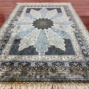 4'x6' New design Turkish Herek Silk Rug Traditional Handmade Area Carpet Hand-knotted for bedroom pray carpet