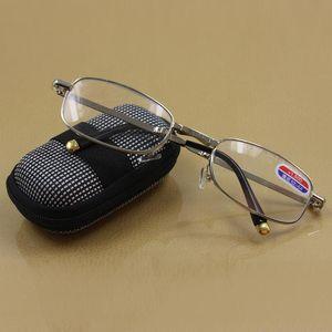 MOONBIFFY, Pratik Metal Katlama Okuma Gözlüğü Case + 1 + 1.5 2,0 2,5 3 3,5 4,0