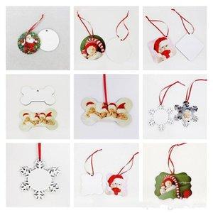 التسامي الحلي عيد الميلاد mdf فارغة جولة مربع الثلج شكل الزينة mdf نقل الفراغات الطباعة الساخنة IIA828