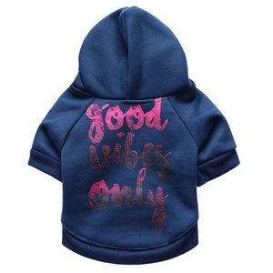 Letter Hoodie Dog Clothes Super for Dogs Clothing Small Pet Outfits Cute Spring Autumn Yorkies Print Blue Boy Ropa Para Perro