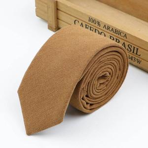 Men's Tie Casual 6.5cm Classic Cotton Handmade Skinny Neckties For Wedding Striped Narrow Shirt Collar Slim Ties Gift jllntp