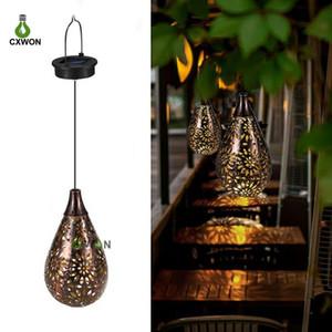 Solar Garden Decoration Light Waterproof Solar Powered Lamp Hanging LED Ceiling Light Decorative Lighting Lantern Yard Pathway