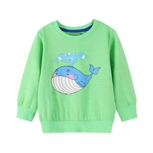 Children Cartoon Sweatshirt Girl Autumn Long Sleeved Warm Casual Cotton Pullover Tops