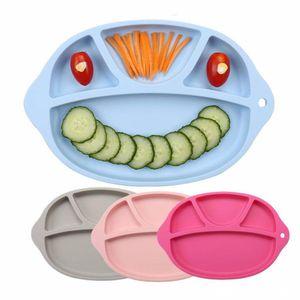4 Renk bebek öğle yemeği kutuları gıda sınıfı silikon gıda saklama kutuları Bento taşınabilir ızgara bölme kaplar çocuk 27.5 * 18 * 2.0cm