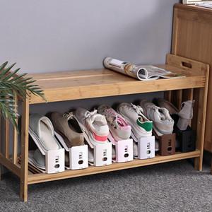 Пластик Простой обуви стойку Прочный регулируемый обуви Организатор Обувь Поддержка Space Saving Cabinet Шкаф для хранения обуви Стенд Shoerack DHA1723