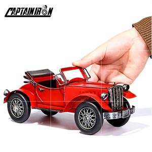 Captainiron Classic Cars Model Iron Retro Car Figurine America Italia Tedesco Auto Ornamento Metallo Artigianato Vintage Home Decor Regali