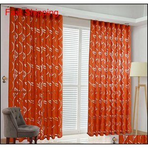 Floral Vine Leaf Partition Curtain Polyester Modern Curtains For Living Room Balcony Wind qylttJ my_home2010
