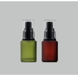 freeshipping 30ml 10pcs lot lucifugal glass spray bottle,fine mist cosmetic perfume packaging bottle ( red green ) black nozzle