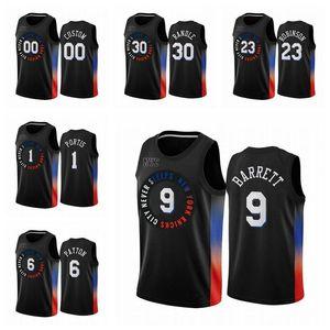 2020/21 Мужчины 9 RJ Barrett Kevin Knox II Swingman City Basketball Jersey Black Icon Edition