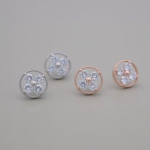 SO5UY Fashion One week niche design s925 pure diamond and silver Korean style simple diamond flower earrings cute girl earrings