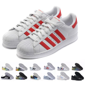 2020 New Originals Superstars White Hologram Iridescent Junior Superstars 80S Pride Sneakers Super Star Women Men Sport Running Shoes 36-45