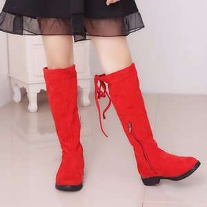 COZULMA Kids Girls Boots Children High Boots With Fur Girls Princess Over-the-knee Dress Shoes Kids Fashion Boots For Girls 201020