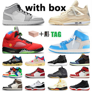 with box stock x original Schuhe Nike Air Jordan Retro Jordans shoes jumpman 11 Concord Männer Frauen 4 Cactus Jack High off white 5 What The mid 1 1s trainers sneakers