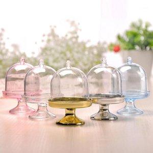 Hediye Wrap Yaratıcı Şeffaf Plastik Şeker Kutusu Mini Yuvarlak DIY Depolama Kek Aperatif Doğum Günü Dekorasyon Çocuk1