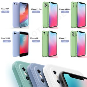 NEW Phone Case For iPhone 11 12 Pro Max Mini Plus XS MAX XR Case Candy Soft Silione Original Cover Fundas