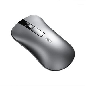 Green Color 2.4G Wireless Mouse 1600DPI Rechargeable Home Office Games Available Laptop Computer Portable Bluetooth Metal Mouse1