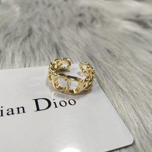 famille D / Dijia nouvel anneau lettre CD avec ouverture simple et bijoux de mode personnalisé