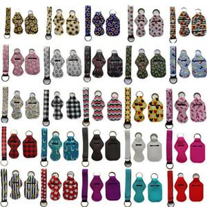DHL 3 Stück Reise Keychain Inhaber Kits inklusive 30 ml Hand Sanitizer Halter Keychain, Armband Schlüsselanhänger Lanyard Chapstick Holder für tra