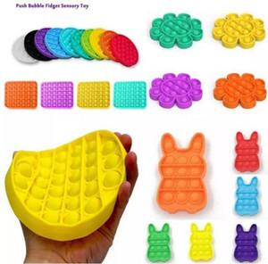 US-Lager-Push-Blase Fidget Toys Pop IT-Autismus Sonderbedürfnisse Stress-Reliever hilft, Stress abzubauen und den Fokus-weichem Squeeze-Spielzeug zu erhöhen